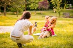 Capturing happy family moments Stock Photo