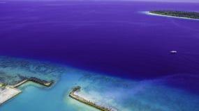 Capturing harbor in maldives stock image
