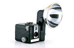Capturing Images in the 60's. 1960's camera with flash attachment Royalty Free Stock Images