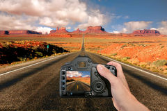 Capturing the Landscape at Monument Valley Royalty Free Stock Image