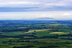View from Busk, Penrith, Cumbria, England. stock images