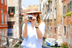Capturing the moment of sightseeing Stock Image