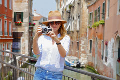 Capturing the moment of sightseeing Stock Images