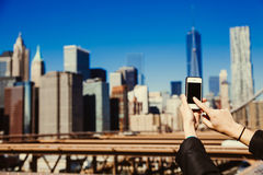 Capturing the moment with a smartphone Stock Photography