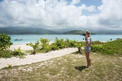 Capturing Mystery Island Views royalty free stock photo