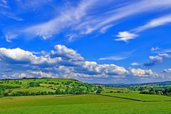 View from Skirsgill 2, Penrith, Cumbria, England stock photo