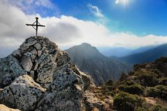 Capu-Di ein Veta, nahe Calvi, Korsika Stockbild