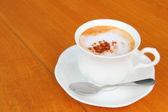 capuccino咖啡杯 免版税库存图片