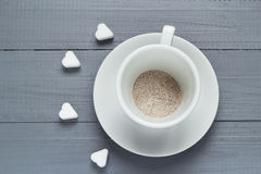 Capuccino cup coffee prepared boiling water flood Stock Photography