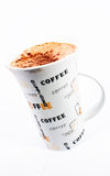 Capuccino Cup in White Background 2 Royalty Free Stock Images