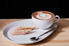 Capuccino and Italian pastries Royalty Free Stock Photo