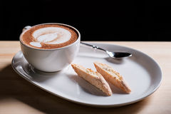 Capuccino and Italian pastries Stock Photo