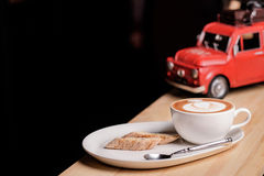 Capuccino and Italian pastries Royalty Free Stock Image