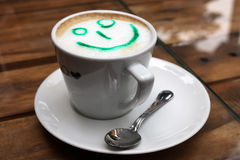 Capuccino with smiley Stock Images