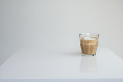 Capuccino on White Table Royalty Free Stock Photography