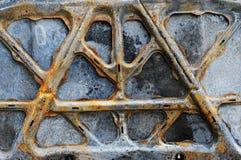 Capucha del coche quemado Fotografía de archivo