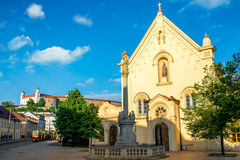 Capuchin church in Bratislava Royalty Free Stock Images