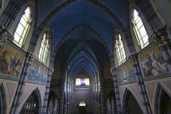 Capuchin Church, Cordoba (Argentina). Colored interior of the Capuchins Church (Iglesia del Asacrado Corazon) in the center of Cordoba. Argentina Royalty Free Stock Image