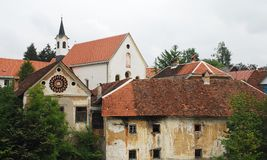 Capuchin Church and Foreground Buildings Royalty Free Stock Image