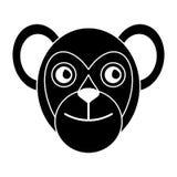 Capuchin primate brazil fauna pictogram Royalty Free Stock Photo