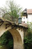 Capuchin's Bridge in Skofja Loka Royalty Free Stock Photos