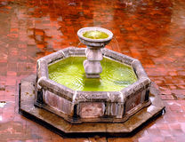 Capuchinas courtyard fountain. Photos of Antigua Guatemala in Central America. Including earth quake ruins of Church's, streets, museums, lifestyles, fountains Stock Photos