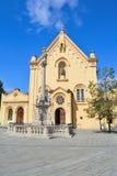 Capuchinkyrka av St Stefan i Bratislava royaltyfri foto
