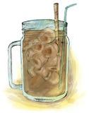 capuchino咖啡 皇族释放例证