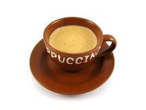 Capuchino brown cup Royalty Free Stock Photo