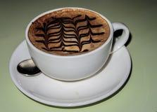 Capuchino coffee cup stock image