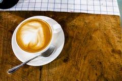 Capuchino del latte del café Foto de archivo libre de regalías