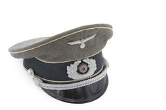 Capuchon allemand d'uniforme d'officier Photos libres de droits