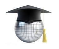 Capuchon de graduation d'école de bille de disco Image stock