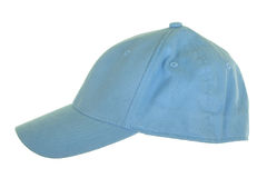 Capuchon de tissu bleu photographie stock