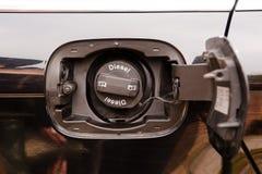 Capuchon diesel d'essence de véhicule photographie stock libre de droits