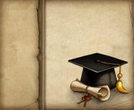 Capuchon et diplôme de graduation Photo stock