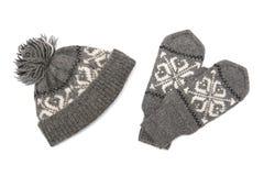 Capuchon et gants Photos stock