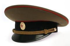Capuchon soviétique d'armée Images libres de droits
