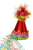 Capuchons colorés de réception avec les bandes colorées Photographie stock