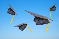 Capuchons de diplômé photos libres de droits