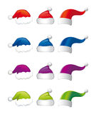 Capuchons de Santa illustration de vecteur