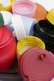 Capuchons en plastique Photographie stock libre de droits
