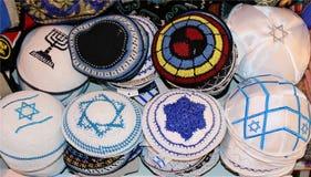 Capuchons religieux juifs Photographie stock libre de droits