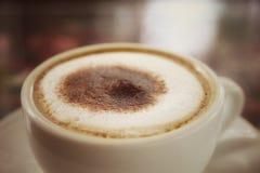 Capucino gorąca kawa Fotografia Stock