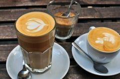 Capucino and latte Stock Photo