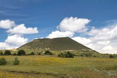 Capulin Volcano National Monument in New Mexico. Northern New Mexico view of the Capulin Volcano, an extinct crater stock photo