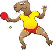 Capybara playing table tennis Stock Image