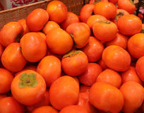 Caqui japonês Shibugaki do fruto Imagem de Stock Royalty Free