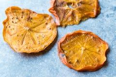 Caqui secado Kaki Fruit Slices/fecha seca de Trebisonda Fotografía de archivo libre de regalías
