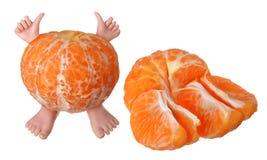Carácter anaranjado Fotografía de archivo